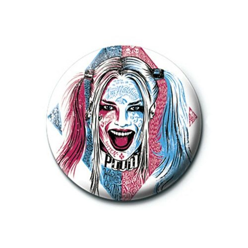 DC Comics Suicide Squad Harley Quinn Tattoo Button Badge